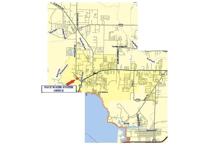 Franchise Area Map - We are located in the middle of Santa Rosa County